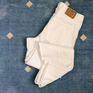 "Vintage 90's high waisted white denim jeans 32"" W"
